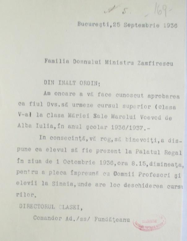 Admiterea lui Lascăr Zamfirescu în Clasa Palatină 1936.JPG